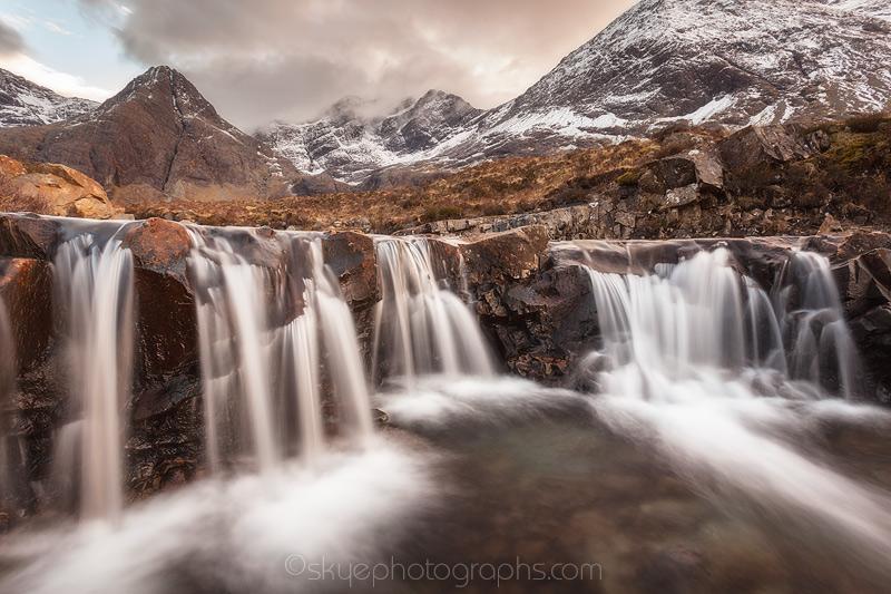 Fairy Pools waterfalls like Crystal Dresses