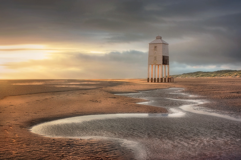 Burnham on Sea Lighthouse Meandering Rivulet