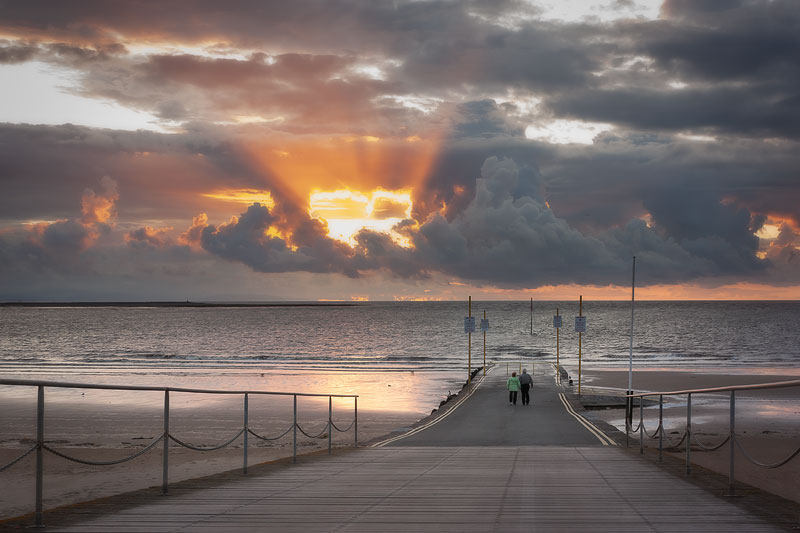 Burnham Heart Sunset