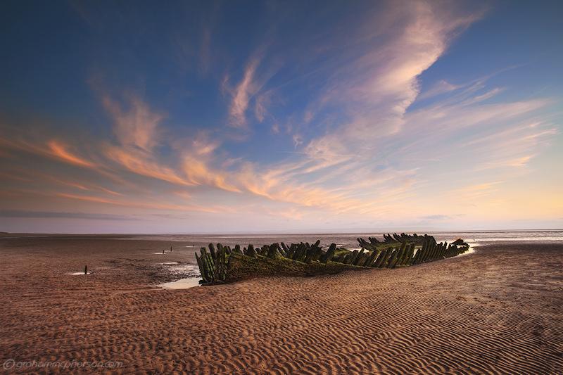 Nornen Wreck on Berrow Beach