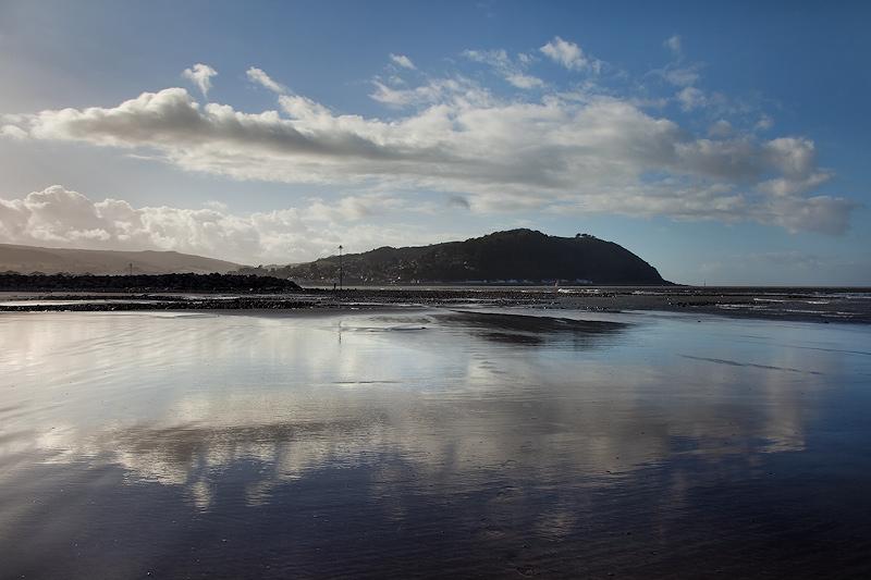 Minehead Beach Reflection