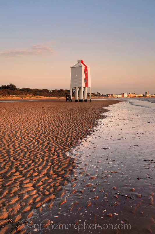 Burnham on Sea Lighthouse Creeping Tide