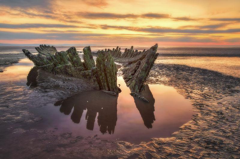 SS Nornen Wreck on Berrow Beach