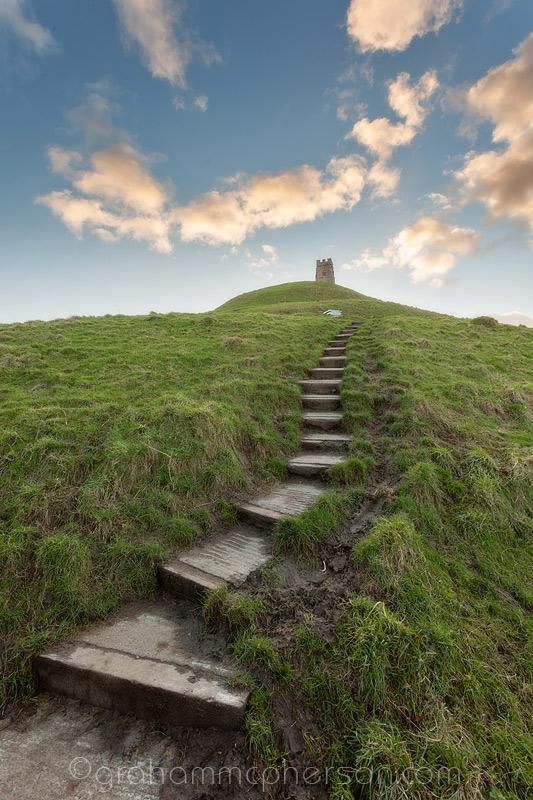 Glastonbury Steps to the Tor