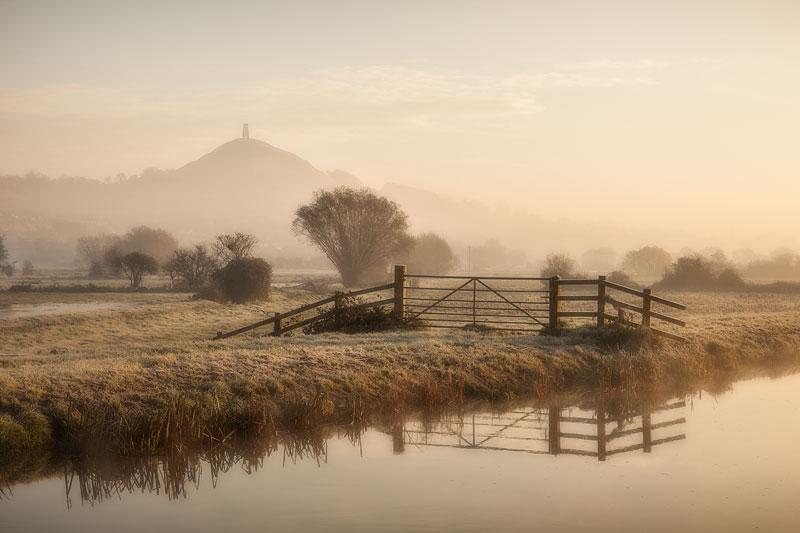Glastonbury Fresh Morning with open gate