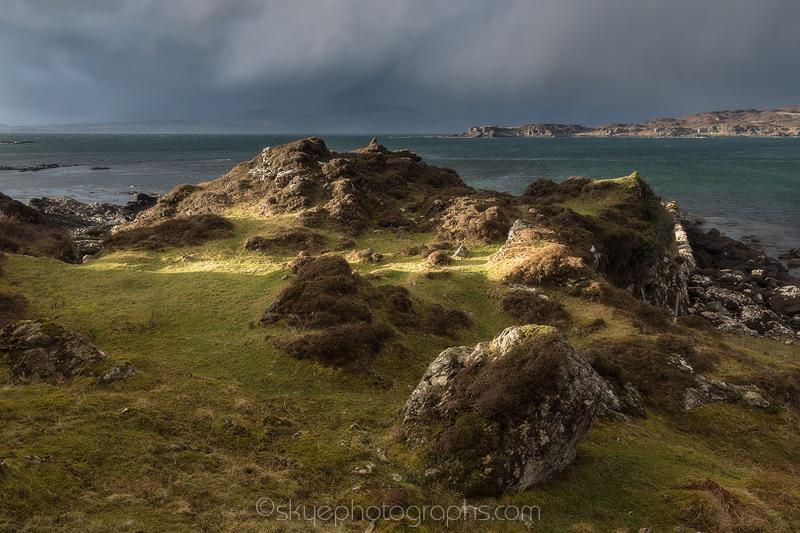 Gillean Light on the Rocks
