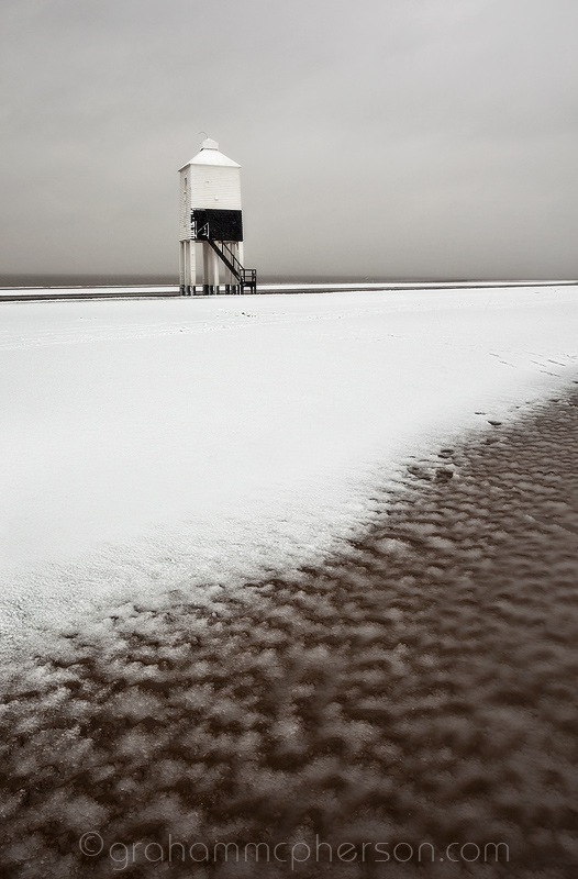 Burnham on Sea Lighthouse in January