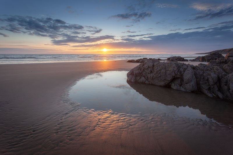 Killintringan Beach Sunset