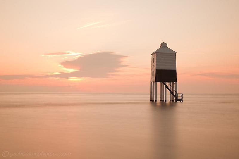 Burnham on Sea Lighthouse Peach