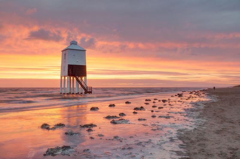 Lighthouse Beach on Fire