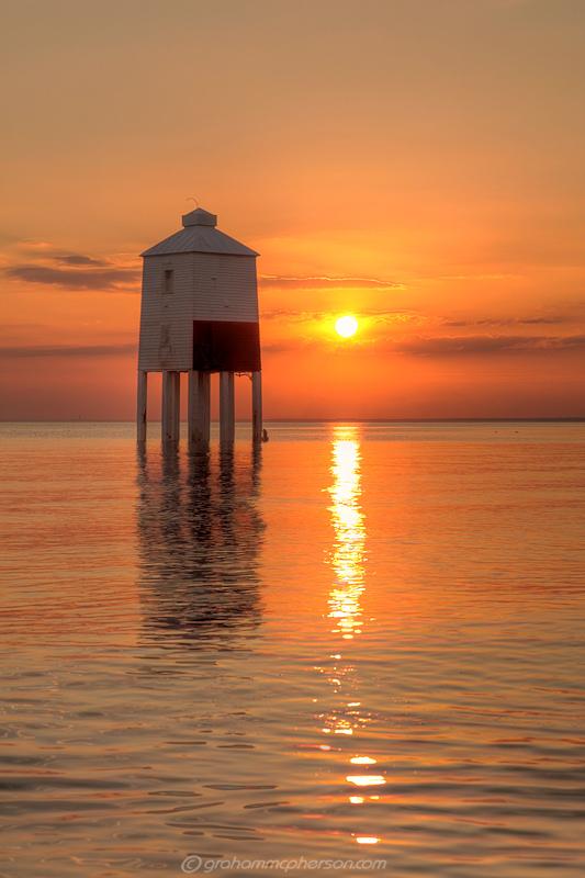 Lighthouse Orange Sea