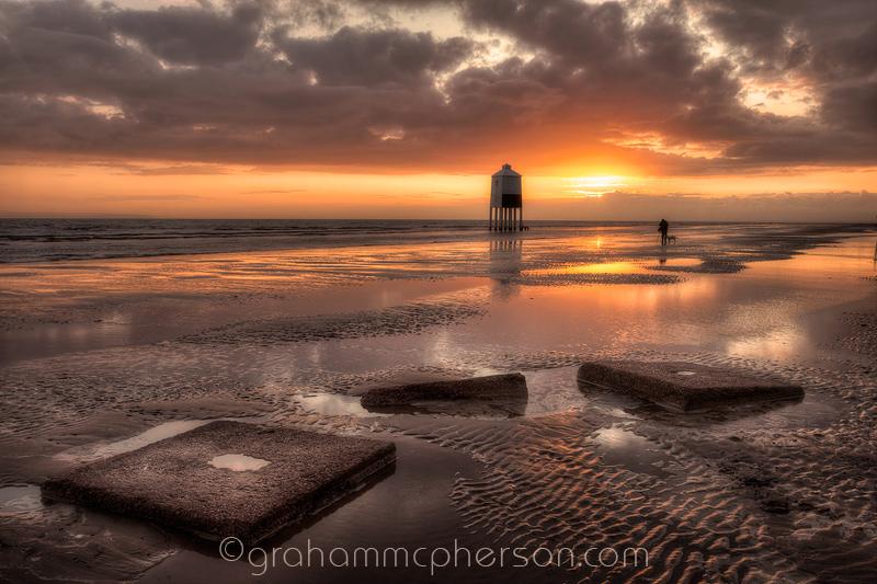 Burnham on Sea Lighthouse Slabs of Concrete