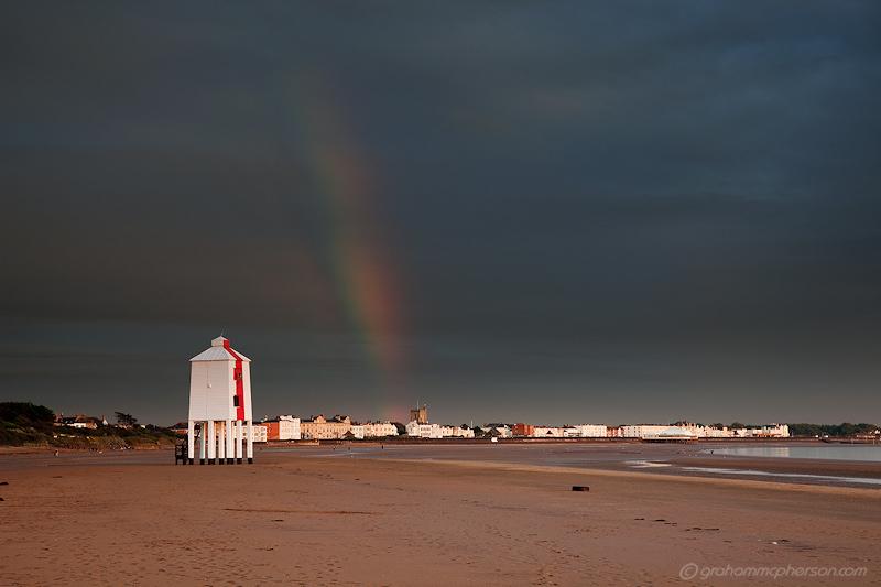 Burnham on Sea Lighthouse Rainbow Town
