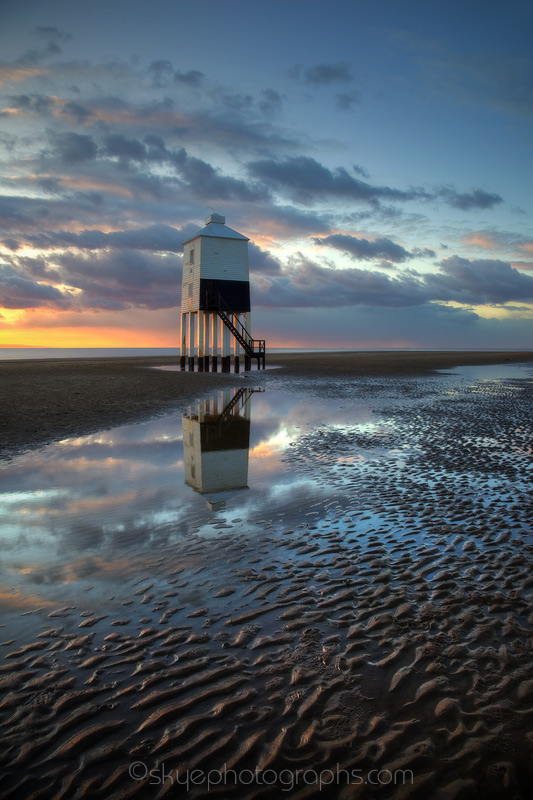 Burnham on Sea Lighthouse in February