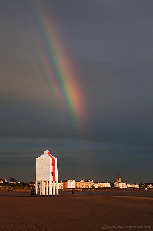 Burnham on Sea Lighthouse Supernuminary Rainbow