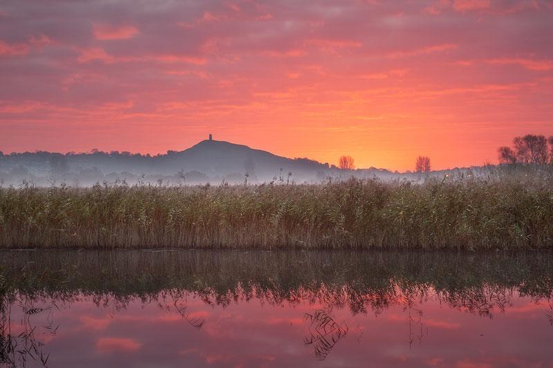 Glastonbury October Dawn