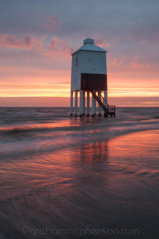 Burnham on Sea Lighthouse Coloured Sand