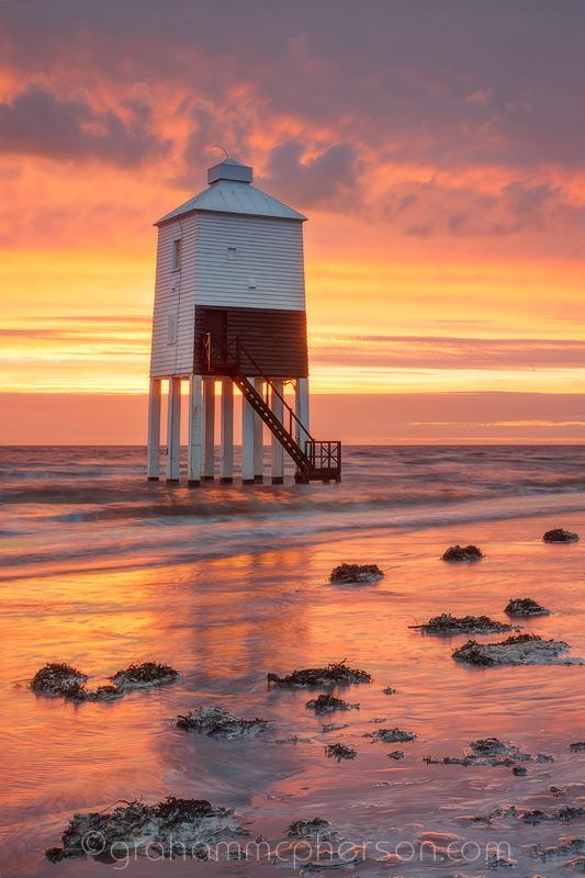 Burnham on Sea Lighthouse Fiery Beach