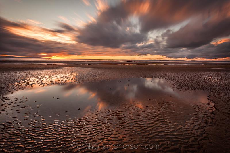 Berrow Beach Reflected Cloudburst