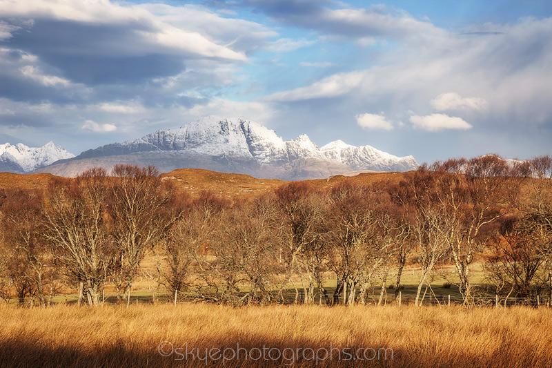 Tokavaig Over the Trees to the mountain called Blaven
