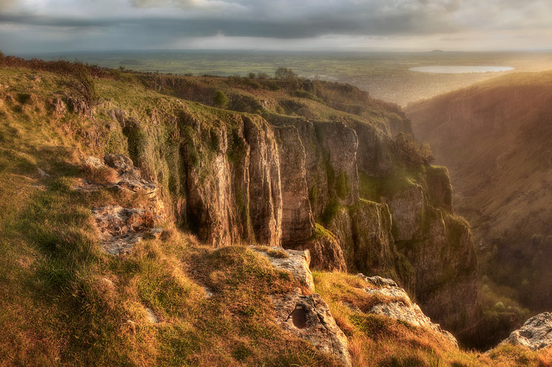 Cheddar Gorge in the Sun and Rain