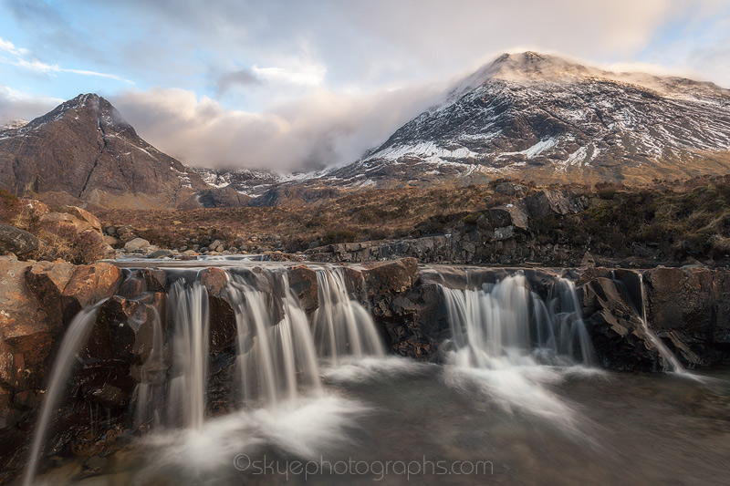 Fairy Pools Clouds and Waterfalls