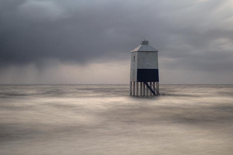 Burnham on Sea Lighthouse Misty
