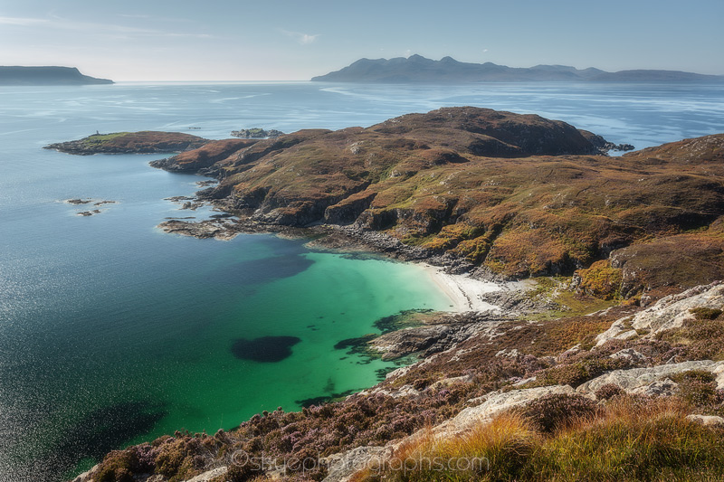 Point of Sleat looking to Rum and Eigg on a beautiful sunny day