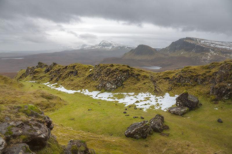 North Skye Quirang Last Snow