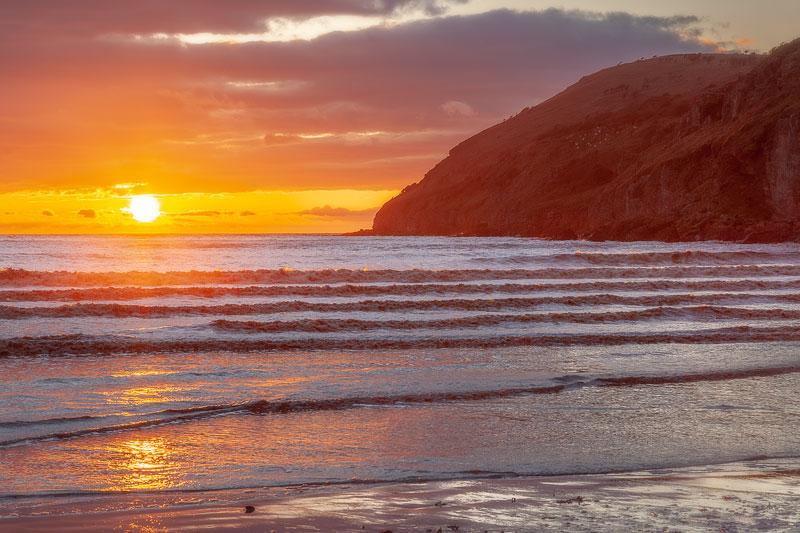 Brean Down Fiery Sunset