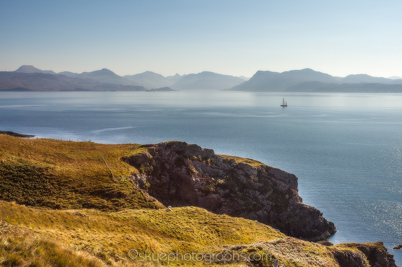 Yacht on Sound of Sleat