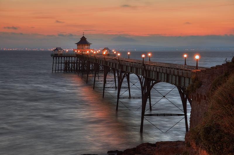 Lights on Clevedon Pier