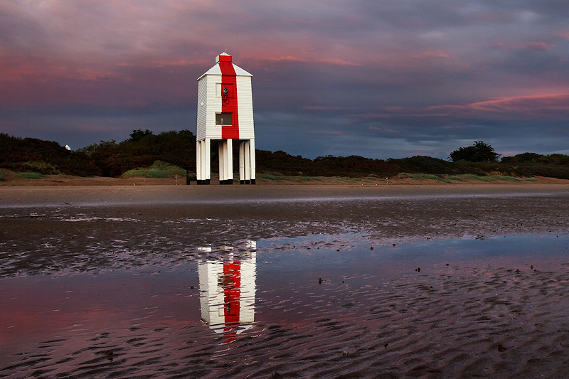 Lighthouse Red Stripe Reflection