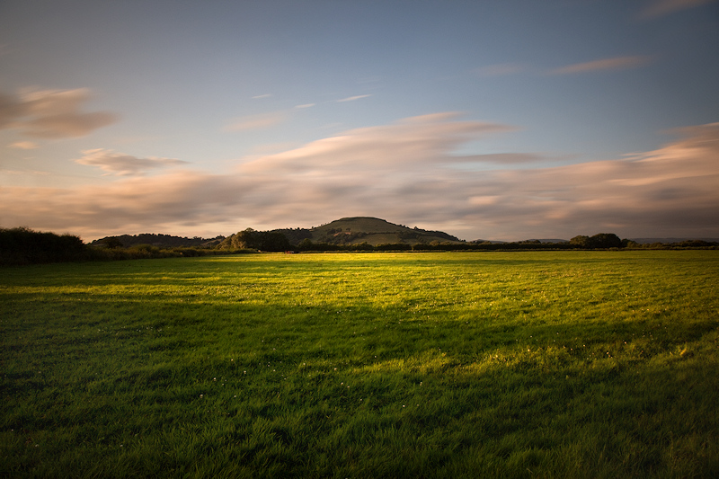 Light across the Field at Brent Knoll
