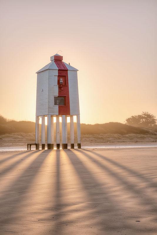 Burnham on Sea Lighthouse Dawn Shadows