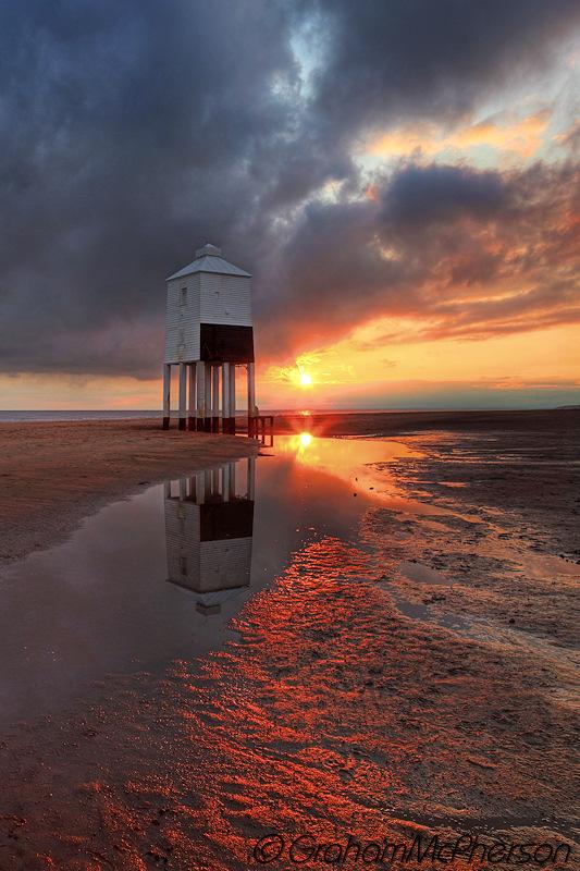 Burnham on Sea Lighthouse Vibrant