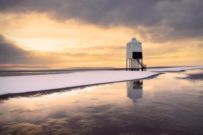 Lighthouse Snow Bank
