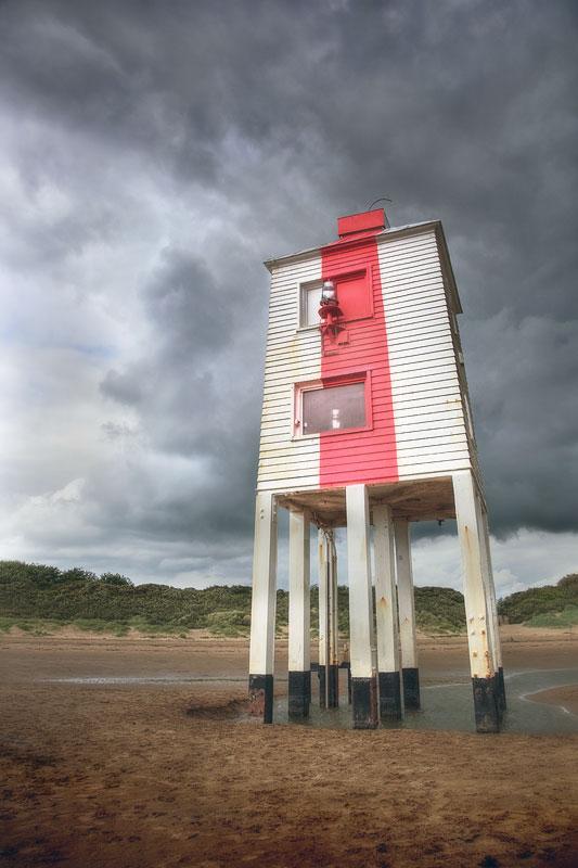 Burnham on Sea Lighthouse Stormy