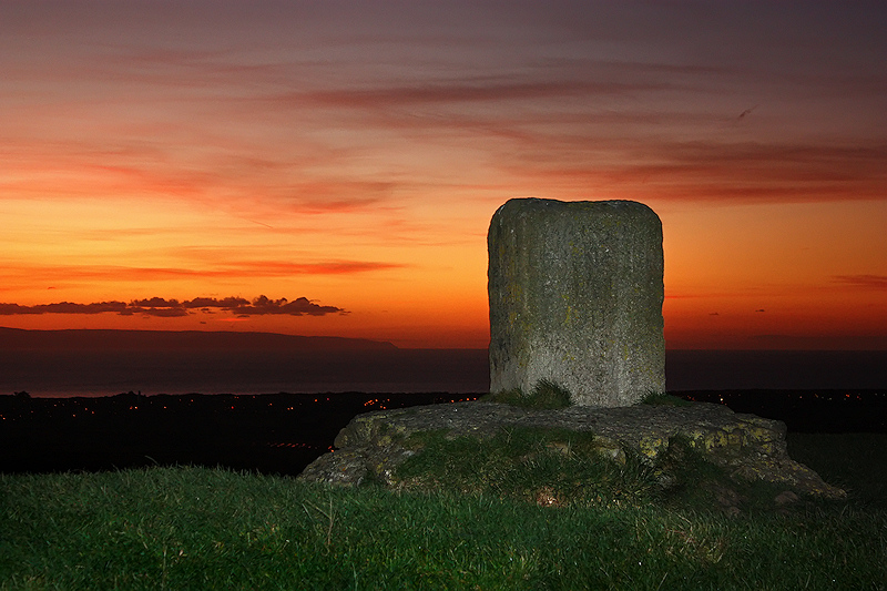 Top of Brent Knoll at Dusk