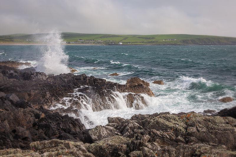 Wavecrash near Port Logan
