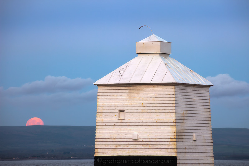 Burnham on Sea Lighthouse Moonset