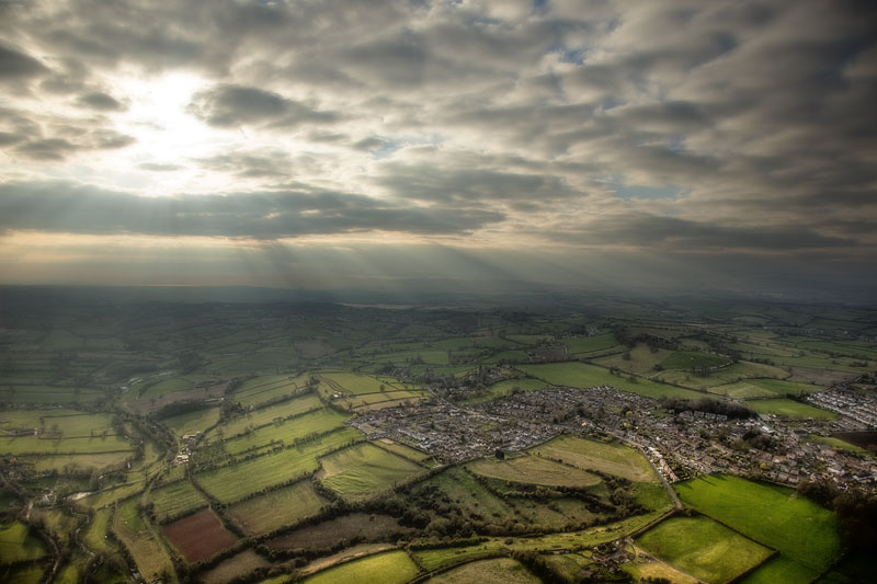 Timsbury from a Balloon